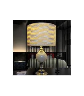Lampa stolní bílá sklo